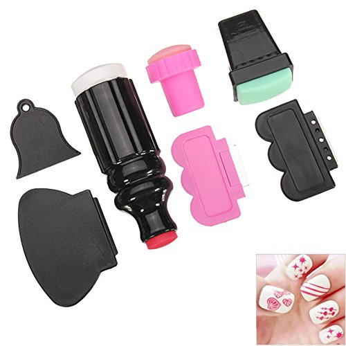 Ace Nails (ACE 7pcs/lot Nail Art Stamping Polish Stamper Image Paint Stamp Scraper Knife Set Manicure Template)