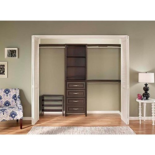 ClosetMaid 25 in. Impressions Chocolate Closet Kit by ClosetMaid (Image #1)