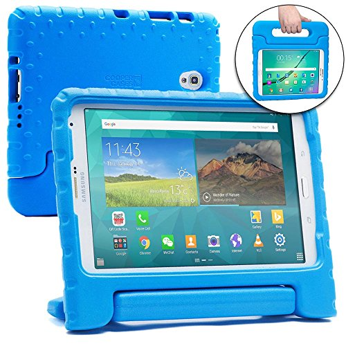 Samsung Galaxy Tab S 8.4 Kids case, [2-in-1 Bulky Handle: Carry & Stand] Cooper Dynamo Rugged Heavy Duty Children's Cover + Handle, Stand & Screen Protector - Boys Girls Elderly ()
