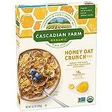 Cascadian Farm Organic Honey Oat Crunch Cereal 13.5 oz Box