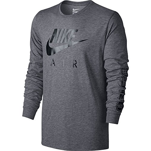 Nike Mens Nike Air Long Sleeve Tee Carbon Heather/Black 805017-091 Size 2X-Large