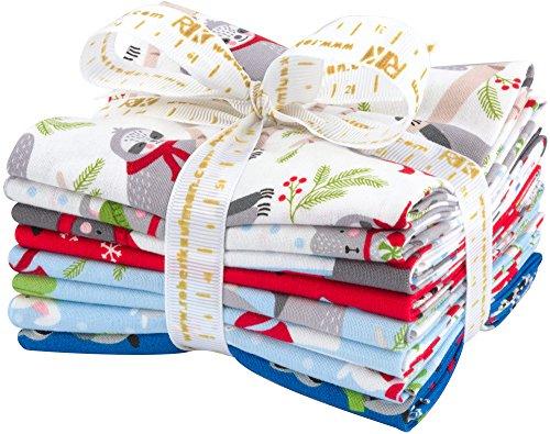 Cotton Candy Quilt Shop (Andie Hanna Frosty Friends 8 Fat Quarters Robert Kaufman Fabrics FQ-1177-8)