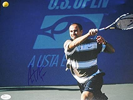 fa5527b1a5ed71 Andre Agassi Autographed Photo - 11x14 Certificate of Authenticity ...