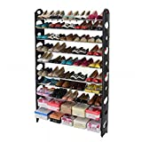 10 Tier Space Saving Storage Organizer 50 Pair Shoe Tower Rack Free Standing :New by WW shop
