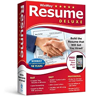 Nova Development US WinWay Resume Deluxe  Win Way Resume