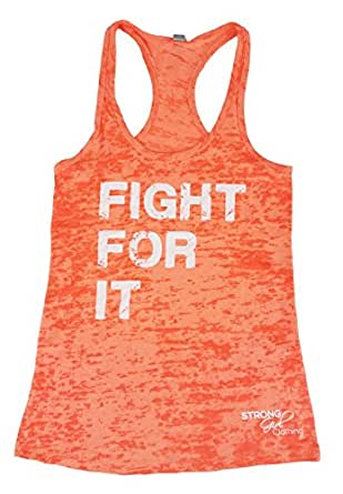 Strong Girl Clothing Women's Fight For It Burnout Tank Top ...