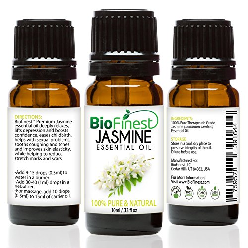 BioFinest Jasmine Essential Oil - 100% Pure Undiluted - Ther