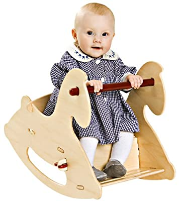 HABA Moover Rocking Horse, Natural Wood