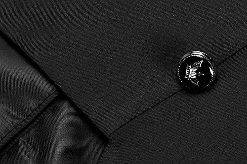 Casuale Uomo Nero Blazer Cooshional Moda Giacca Fit Del Stand Slim A Collo Doppio Petto twgACqA5