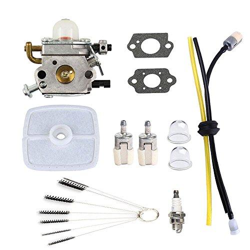 (Podoy PB-200 Carburetor for Echo Blower C1U-K78 Tune-Up Kit Air Filter with Cleaning Tool Primer Bulb Fuel Lines Kit PB200 PB201 ES210 ES211 A021000942 A021000943 Shredder)
