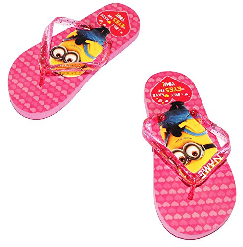 Zehentrenner Sandalen - Gr. 33 / 34 -  Minion - Ich einfach unverbesserlich  - rutschfeste Schuhe Schuh / Badeschuhe mit Profilsohle - für Kinder - Mädchen / Hausschuhe Gartenschuhe - Wasserschuhe -