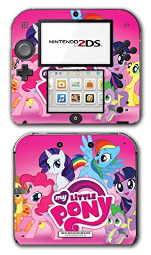 My Little Pony Friendship is Magic MLP Pinkie Pie Rarity Rainbow Dash Twilight Sparkle Applejack Video Game Vinyl Decal Skin Sticker Cover for Nintendo 2DS System (Nintendo Ds Skin)