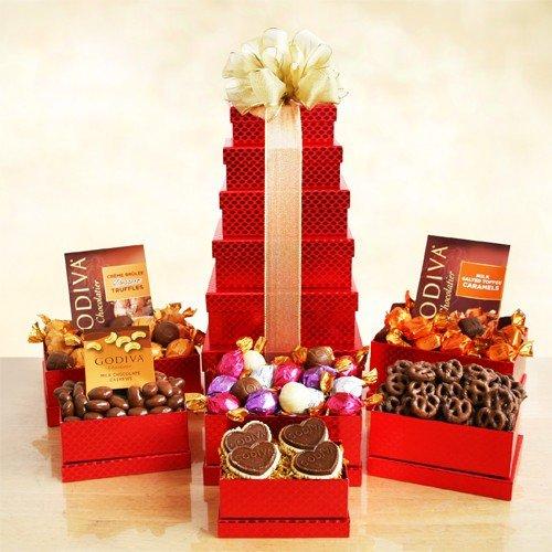 Red Godiva Gift Tower