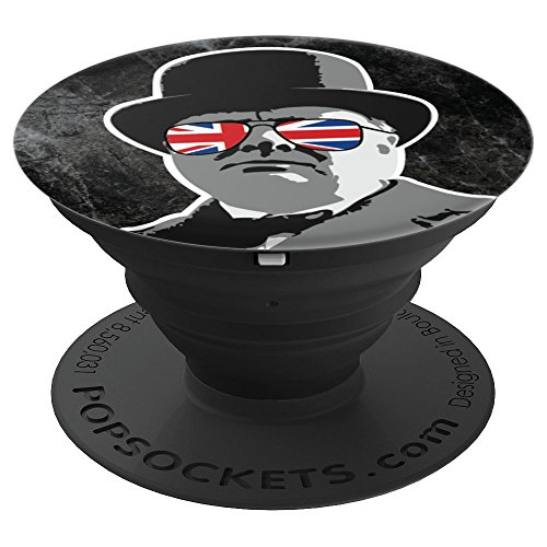 Winston Churchill in Union Jack Sunglasses Political Meme - PopSockets Grip and Stand for Phones and ()