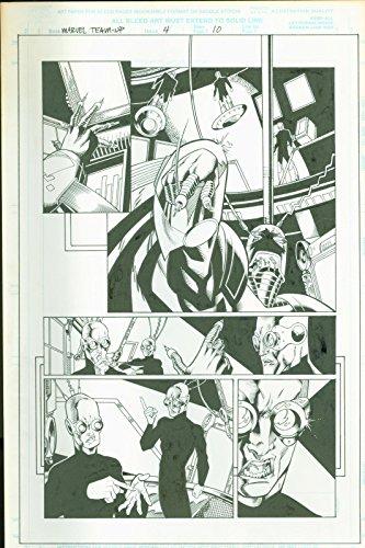 Marvel team Up #4 Josh Hood Original Comic Art Page #10 Spider-Man Man Thing (Art Book Original Comic)