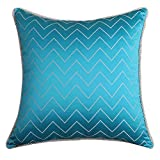 Simple fashion Jacquard pillow blue/Sofa bed cushions/ Feather wool pillow-A 60x60cm(24x24inch)