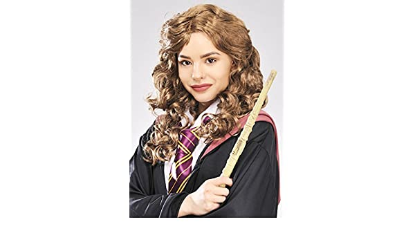Magic Box Womens Hermione Granger Estilo marrón Rizado ...