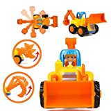 Woby Push and Go Friction Powered Car Toys Set