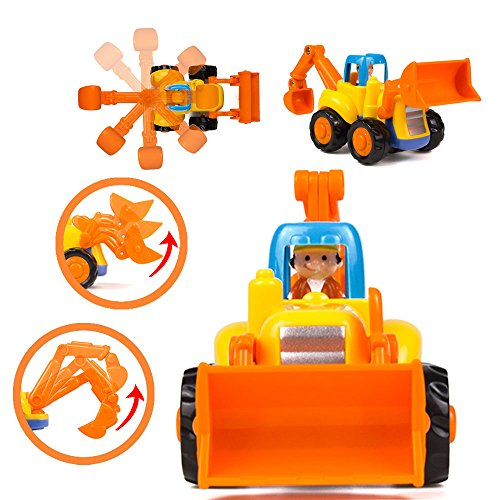 51wANE6XnYL - Woby Push and Go Friction Powered Car Toys Set Tractor Bulldozer Mixer Truck and Dumper for Baby Toddlers