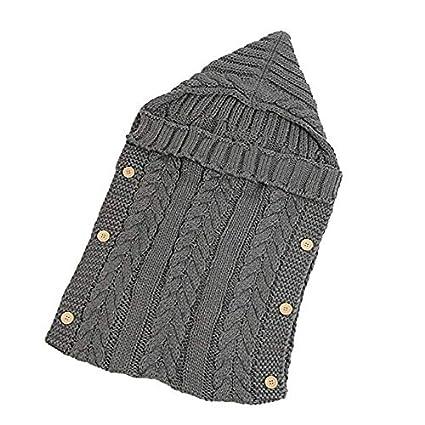 Saco de dormir Abrigo Manta Bebé Tejido de lana gruesa Sleep Wrap Manta suave y cálida