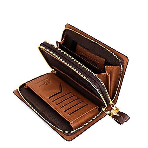 XY Fancy - Cartera de mano para hombre marrón marrón, negro (negro) - RH#BB0918-1586-JPY30 negro