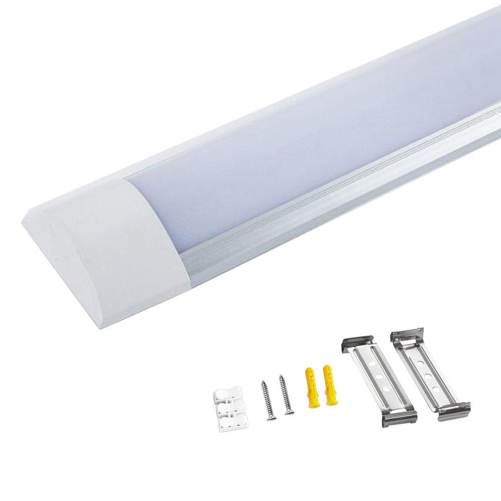 5FT 45W Led Batten Light Linear Ceiling Tube Light Surface Mounted Fitting  for Kitchen, bathroom, garage Lighting Cool White 6000K