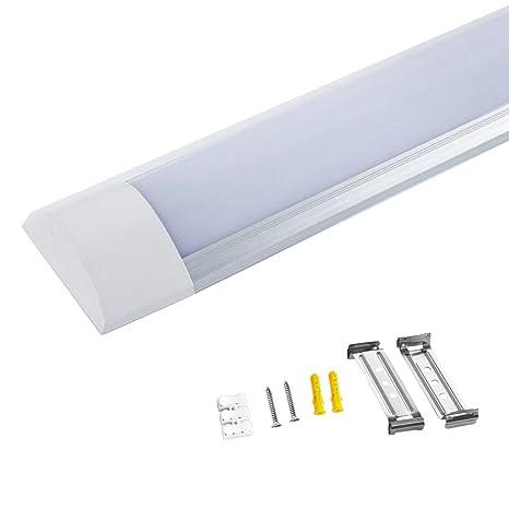 5ft 45w led batten light linear ceiling tube light surface mounted rh amazon co uk