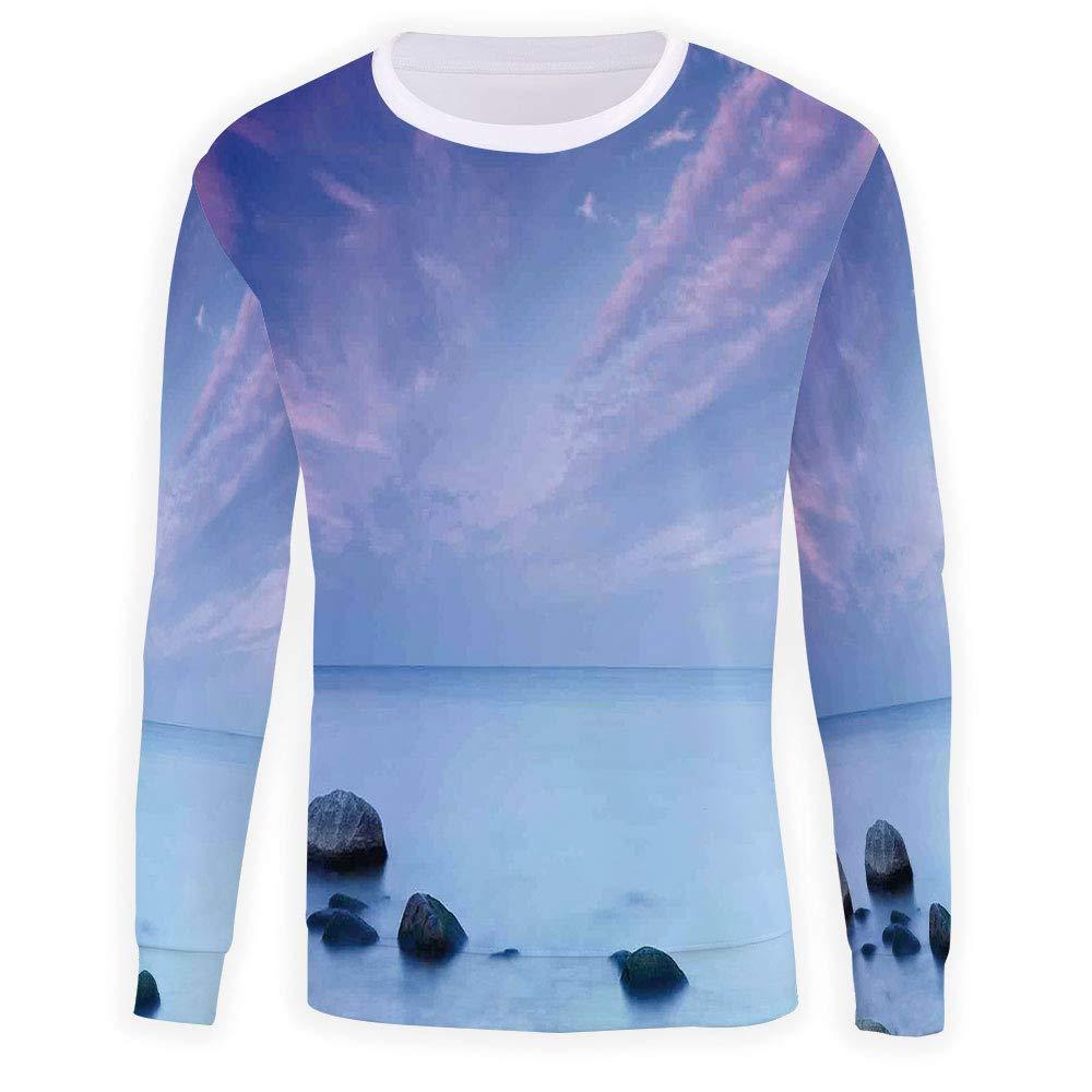 MOOCOM Mens Crewneck Seaside Sweatshirt
