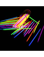 50 Glow Sticks in Mixed Colours GLOW IN DARK Bracelets PARTY SUPPLIES GN ENTERPRISES