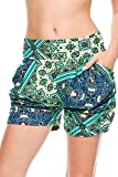 Leggings4U Elegant4U Junior's Ready For Spring Fling Printed Harem Shorts With Pockets