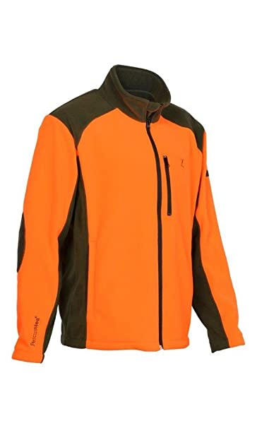 Percussion - Chaqueta Polar Caza Cor Naranja: Amazon.es ...