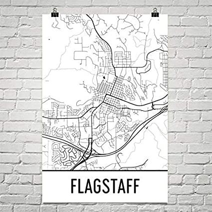 Map Of Flagstaff Arizona.Amazon Com Flagstaff Az Map Flagstaff Arizona Art Flagstaff Print