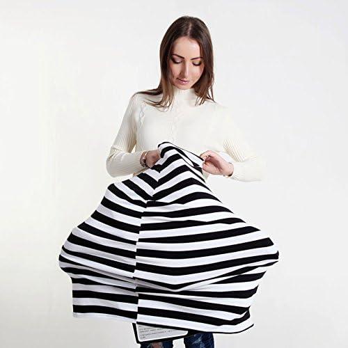 Ruiuzi Couverture dallaitement multi-usage dallaitement /écharpe couverture mamelle tablier ch/âle couverture pour b/éb/é Noir