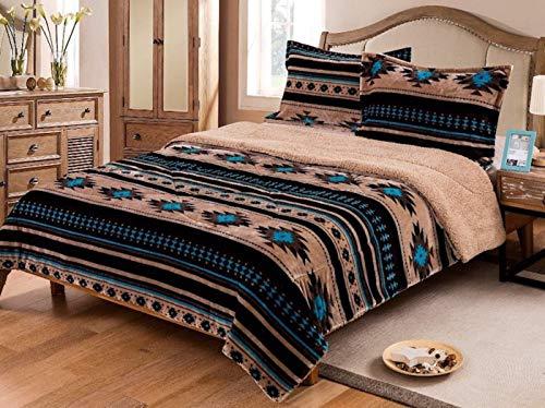 Nu Trendz Signature Southwest Design (Navajo Print) Queen Size 3pcs Set 17426 (Tan)