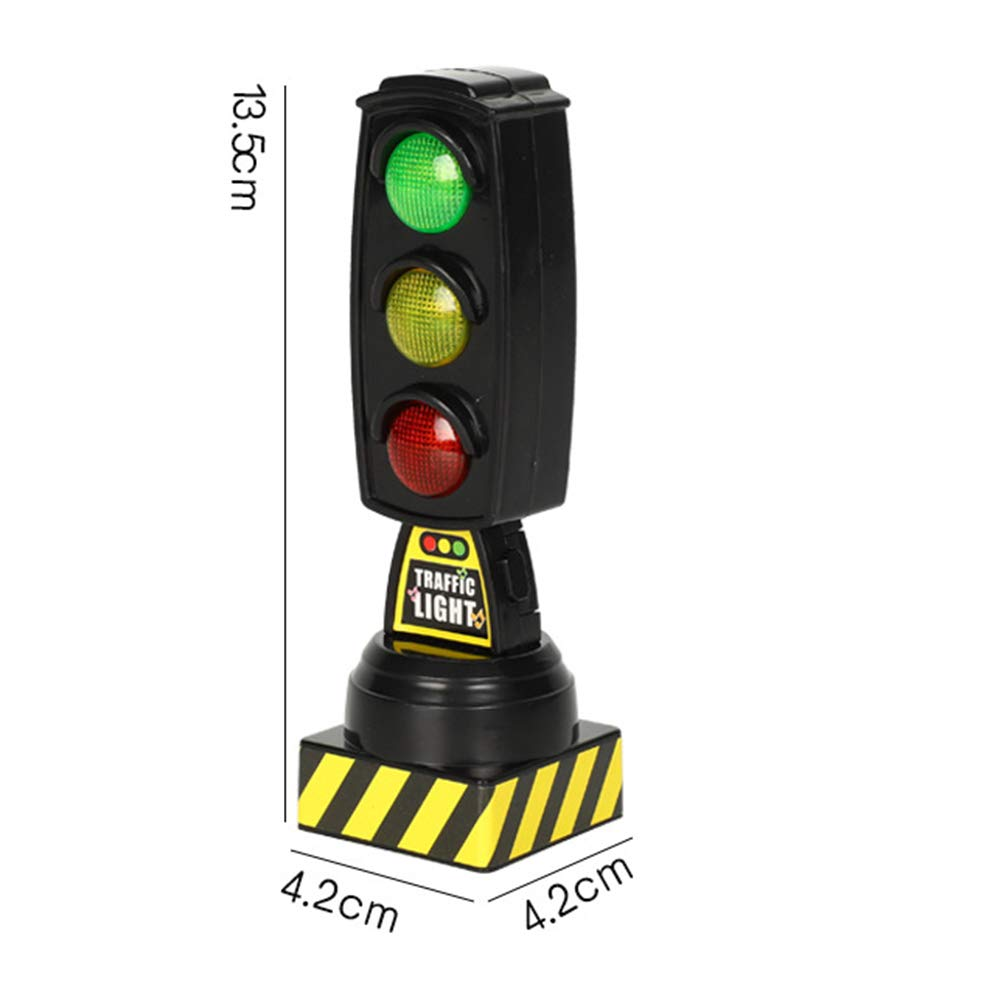 Anniston Kids Toys Simulation Traffic Signs Stop Music Light Block Model Early Education Kids Toy Learning /& Education Perfect Fun Time Play Activity Gift for Boys Girls Black