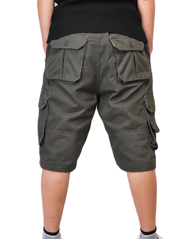 ZKOO Vintage Cargo Shorts Herren Bermuda Kurze Hose Sommer Sport Kurzen  Hosen Outdoor Shorts mit Multi-Tasche: Amazon.de: Bekleidung