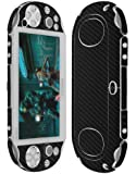 Skinomi® TechSkin - Sony PS Vita PCH-2000 Screen Protector + Carbon Fiber Full Body Skin / Front & Back Premium HD Clear Film / Ultra Invisible and Anti Bubble Shield with Free Lifetime Replacement