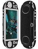 Skinomi® TechSkin - Sony PS Vita PCH-2000 Screen Protector + Carbon Fiber Full Body Skin / Front & Back Premium HD Clear Film / Ultra Invisible and Anti Bubble Shield