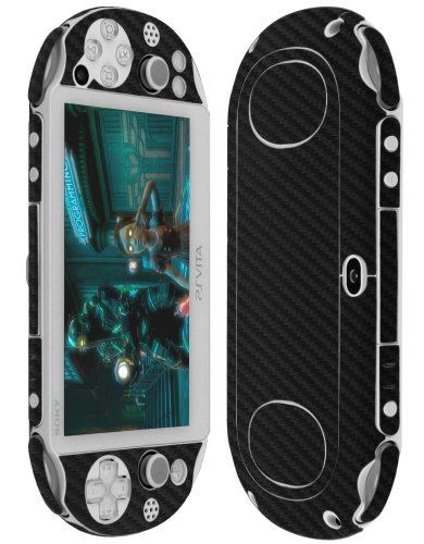 reen Protector + Carbon Fiber Full Body, Skinomi TechSkin Carbon Fiber Skin for Psp Vita Pch-2000 with Anti-Bubble Clear Film Screen ()