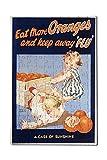 Eat More Oranges Vintage Poster (artist: Harris) (12x18 Premium Acrylic Puzzle, 130 Pieces)
