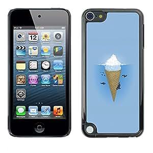El Iceberg por encima del agua y el helado Bajo - Metal de aluminio y de plástico duro Caja del teléfono - Negro - Apple iPod Touch 5