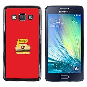 EJOY---Cubierta de la caja de protección la piel dura para el / Samsung Galaxy A3 / --La vida de la hamburguesa