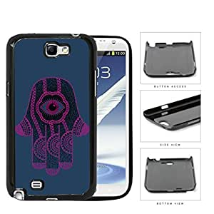Hamsa Hand Solid Background Series Hard Snap on Cell Phone Case Cover Samsung Galaxy Note 2 N7100 (purple) WANGJING JINDA