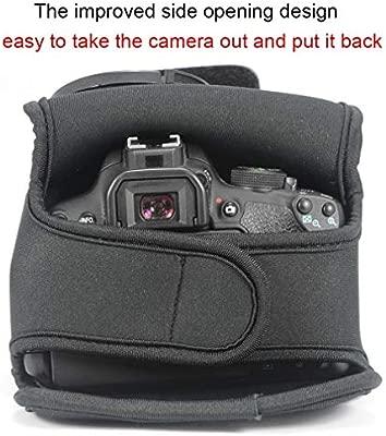Gris Funda Cámara Reflex Neopreno Protectora para Canon EOS 250D ...