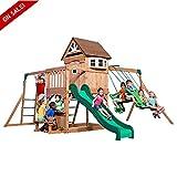 Wooden Swing Sets Cedar Kids Outdoor Playcenter Set Backyard Discovery Safe Children Garden Fun Games - Skroutz