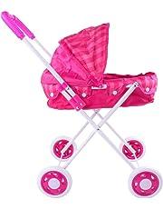 Doll Trolley Girls Carrito simulado Cochecito Cochecito Juguetes para niños Sillas de Paseo Portátil Juego de