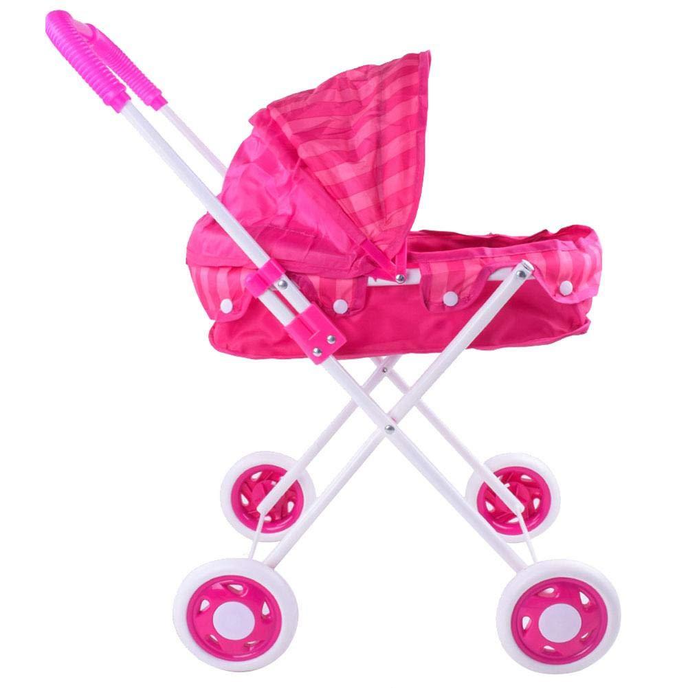 SH-Flying Trolley de muñeca para niños, Carro de juguete para niños Carro de empuje Carro de silla de paseo Carro de niños Herramientas para niños ...