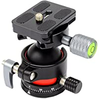 koolehaoda E2 mini Tripod Head Ballhead with Quick Release Plate. Net weight only 240G,Maximum load: 12KG.(E2 Mini ballhead)