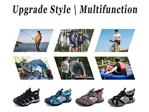 riemot Walking Sandals for Women, Ladies Casual Summer Shoes, Sports and Outdoor Sandals for Beach, Travel, Trekking, Hiking, Flat, Wide Fitting, Comfort