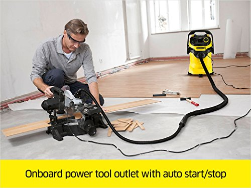 Karcher WD5 P Multi-Purpose Wet Dry Vacuum Cleaner with Semi-Automatic Filter Cleaning, Space-Saving Design